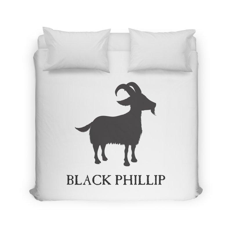Black Phillip II Home Duvet by True To My Wyrd's Artist Shop