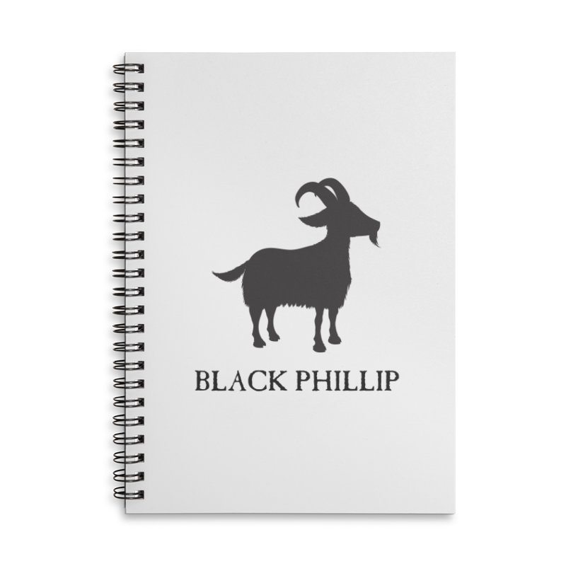 Black Phillip II Accessories Lined Spiral Notebook by True To My Wyrd's Artist Shop