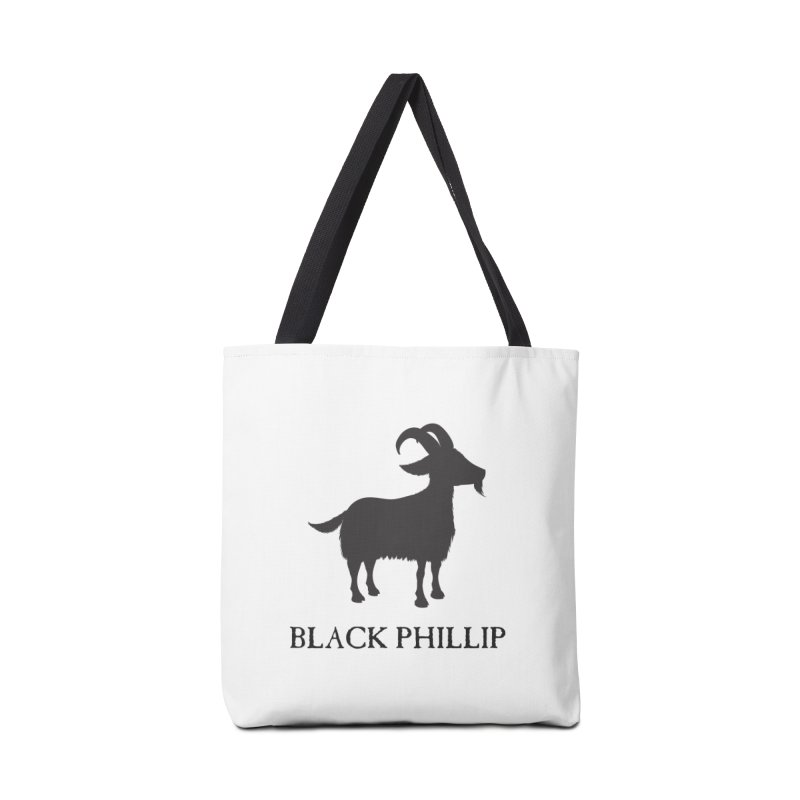 Black Phillip II Accessories Tote Bag Bag by True To My Wyrd's Artist Shop