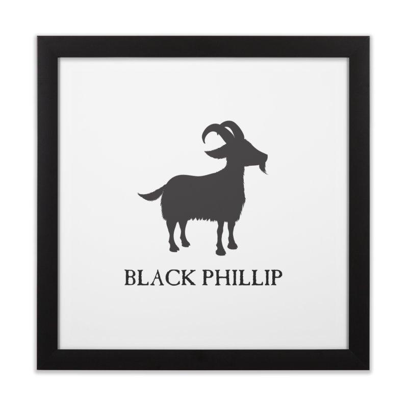 Black Phillip II Home Framed Fine Art Print by True To My Wyrd's Artist Shop