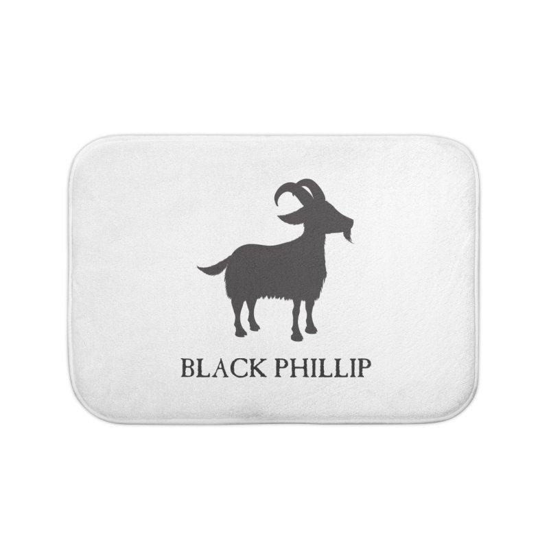 Black Phillip II Home Bath Mat by True To My Wyrd's Artist Shop