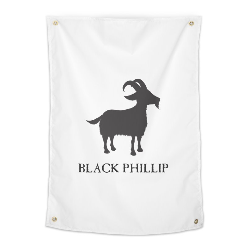Black Phillip II Home Tapestry by True To My Wyrd's Artist Shop