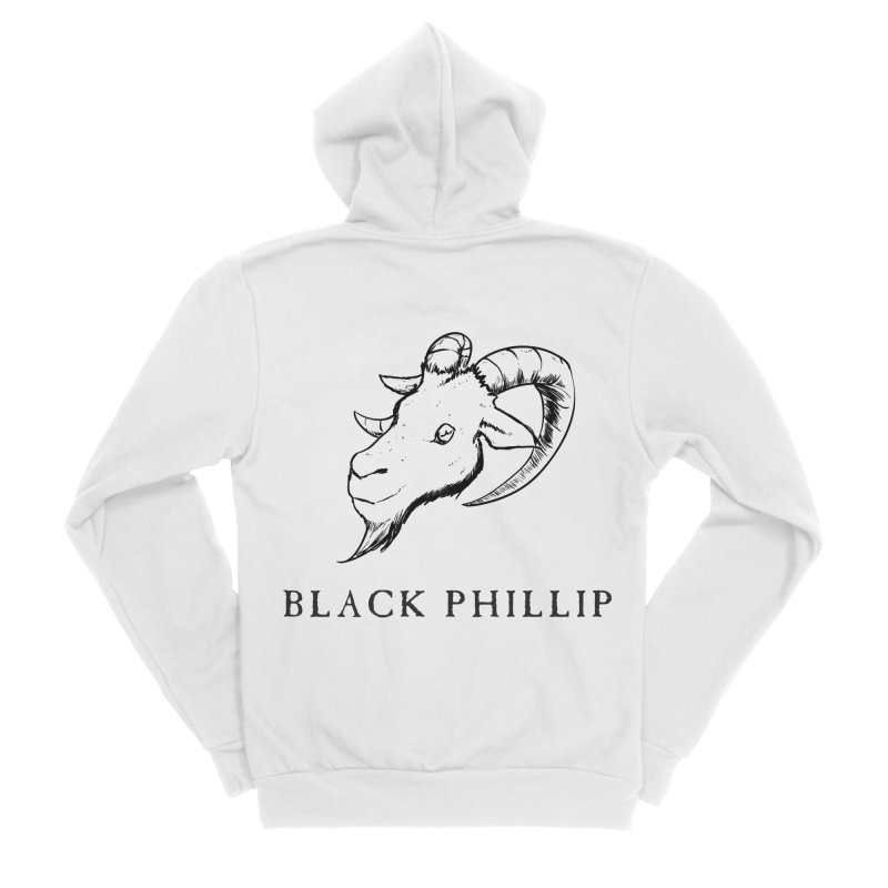 Black Phillip III Men's Sponge Fleece Zip-Up Hoody by True To My Wyrd's Artist Shop