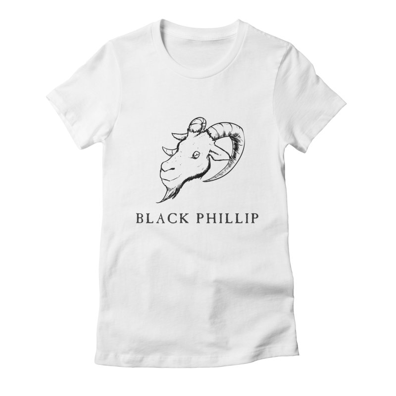 Black Phillip III Women's Fitted T-Shirt by True To My Wyrd's Artist Shop