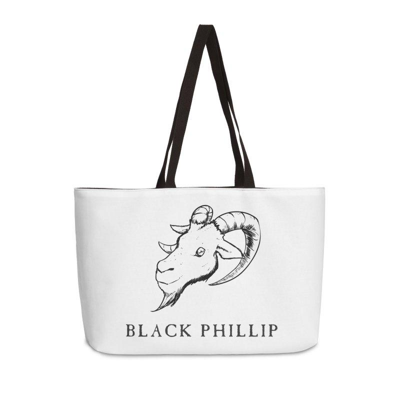 Black Phillip III Accessories Weekender Bag Bag by True To My Wyrd's Artist Shop