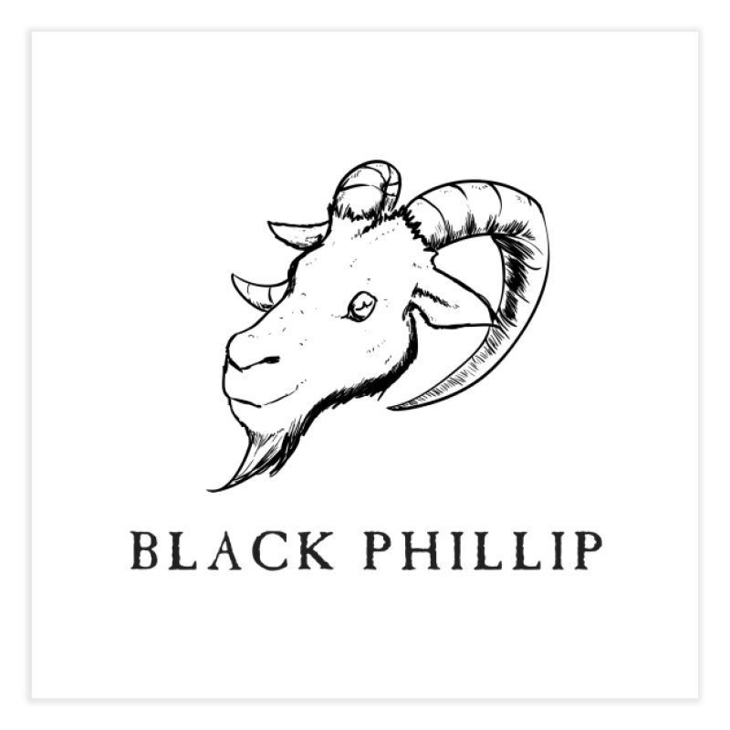Black Phillip III Home Fine Art Print by True To My Wyrd's Artist Shop