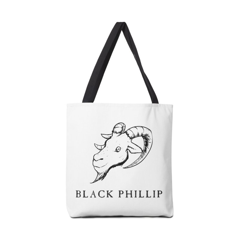 Black Phillip III Accessories Tote Bag Bag by True To My Wyrd's Artist Shop