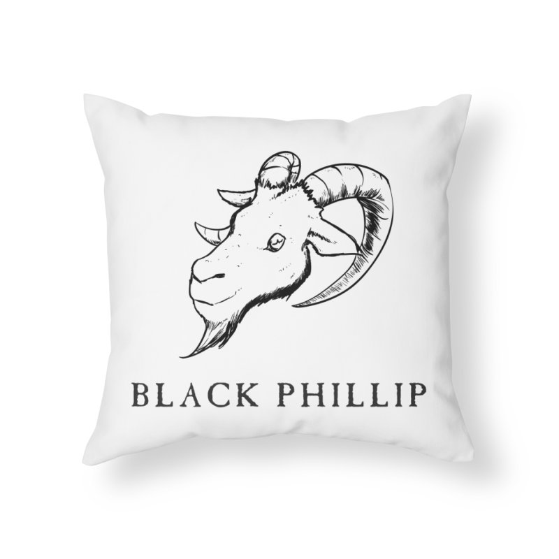Black Phillip III Home Throw Pillow by True To My Wyrd's Artist Shop