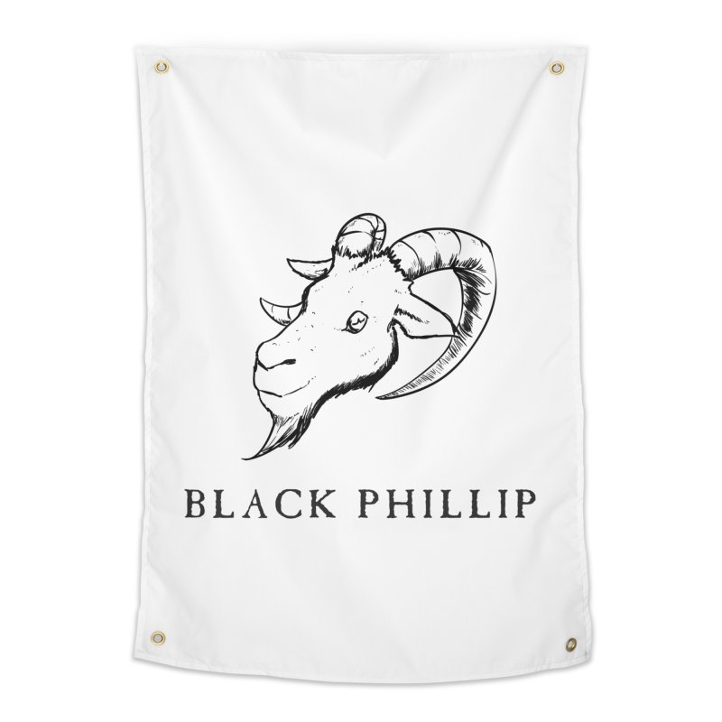 Black Phillip III Home Tapestry by True To My Wyrd's Artist Shop
