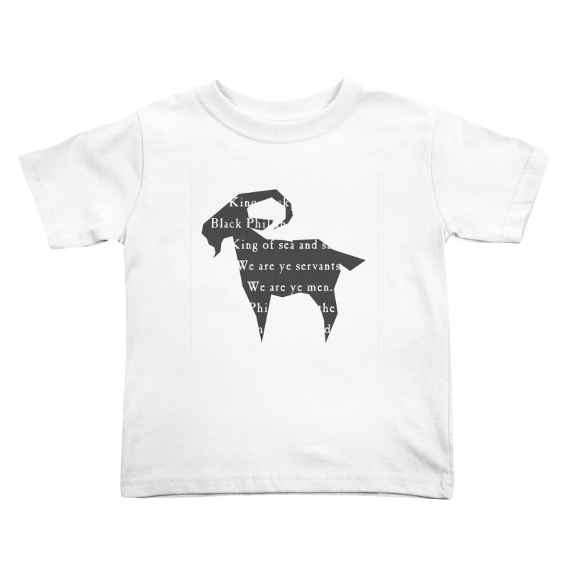 Black Phillip IV Kids Toddler T-Shirt by True To My Wyrd's Artist Shop