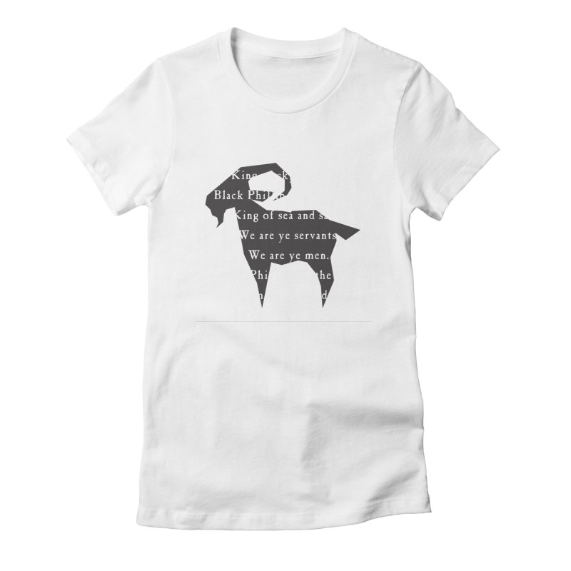 Black Phillip IV Women's Fitted T-Shirt by True To My Wyrd's Artist Shop