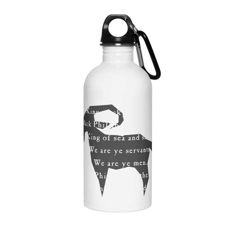 Black Phillip IV Accessories Water Bottle by True To My Wyrd's Artist Shop