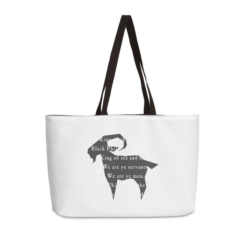 Black Phillip IV Accessories Weekender Bag Bag by True To My Wyrd's Artist Shop