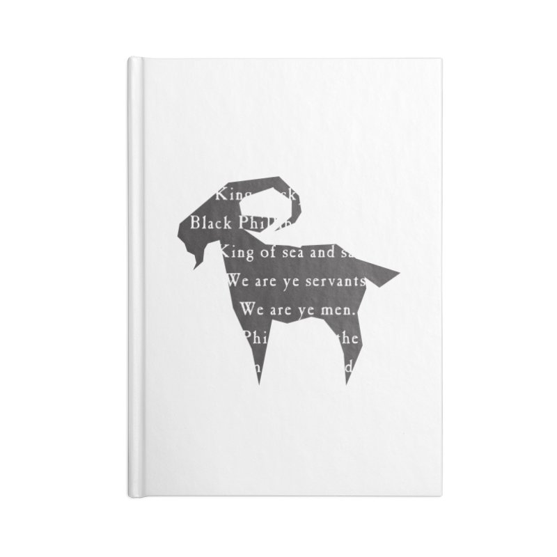 Black Phillip IV Accessories Lined Journal Notebook by True To My Wyrd's Artist Shop