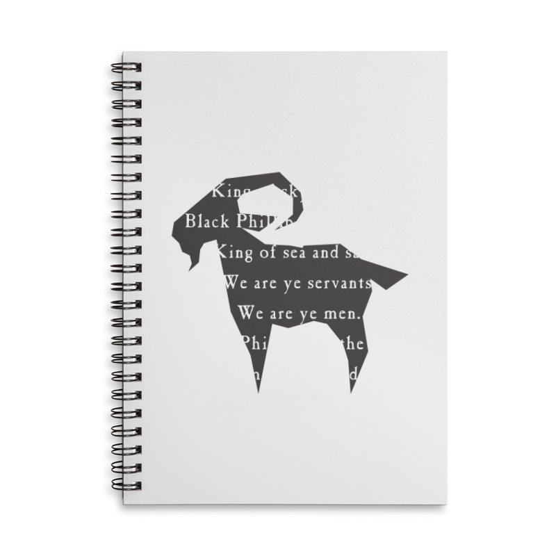 Black Phillip IV Accessories Lined Spiral Notebook by True To My Wyrd's Artist Shop
