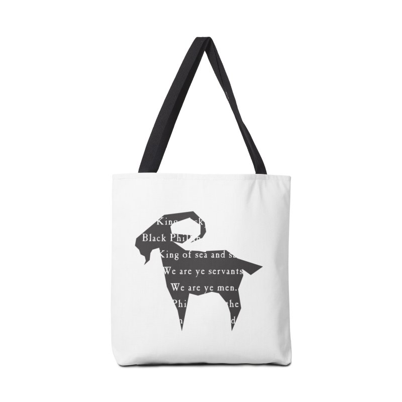 Black Phillip IV Accessories Tote Bag Bag by True To My Wyrd's Artist Shop