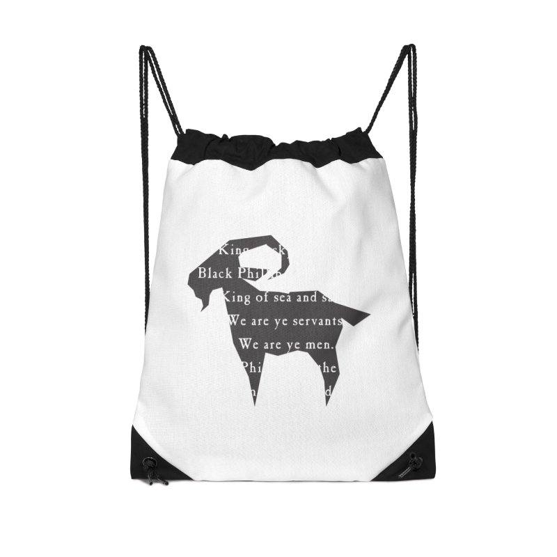 Black Phillip IV Accessories Drawstring Bag Bag by True To My Wyrd's Artist Shop
