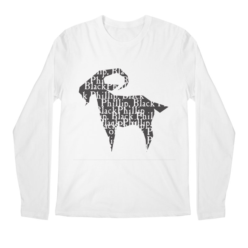 Black Phillip V Men's Longsleeve T-Shirt by True To My Wyrd's Artist Shop