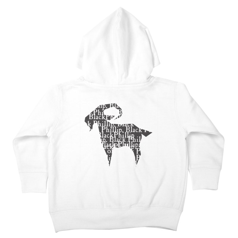 Black Phillip V Kids Toddler Zip-Up Hoody by True To My Wyrd's Artist Shop
