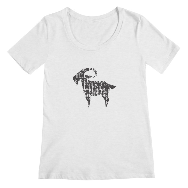 Black Phillip V Women's Regular Scoop Neck by True To My Wyrd's Artist Shop