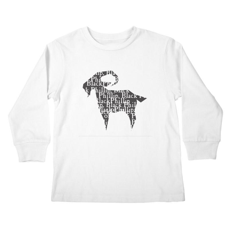 Black Phillip V Kids Longsleeve T-Shirt by True To My Wyrd's Artist Shop