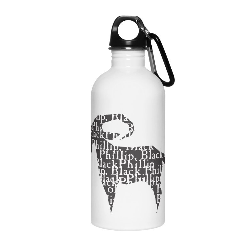 Black Phillip V Accessories Water Bottle by True To My Wyrd's Artist Shop