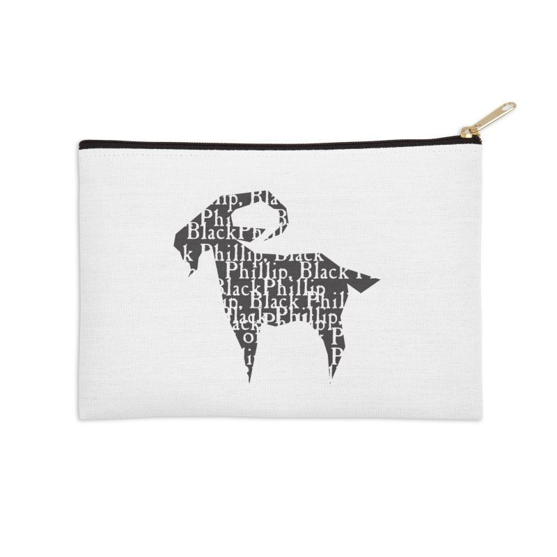 Black Phillip V Accessories Zip Pouch by True To My Wyrd's Artist Shop
