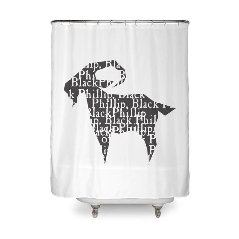 Black Phillip V Home Shower Curtain by True To My Wyrd's Artist Shop