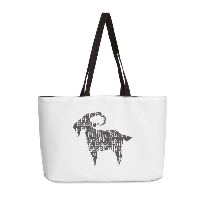 Black Phillip V Accessories Weekender Bag Bag by True To My Wyrd's Artist Shop
