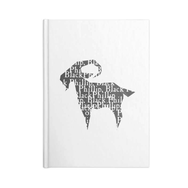 Black Phillip V Accessories Lined Journal Notebook by True To My Wyrd's Artist Shop