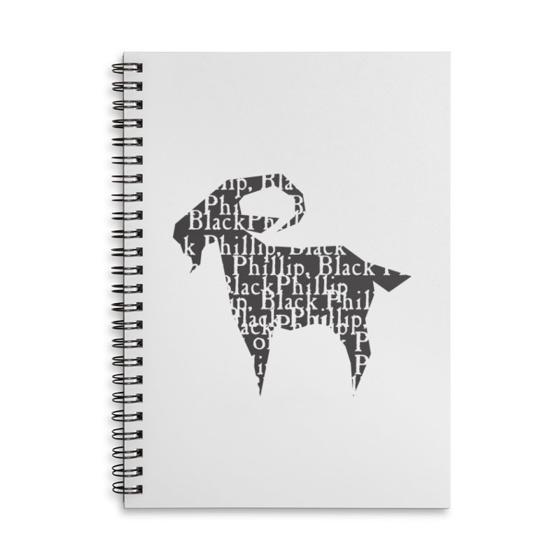 Black Phillip V Accessories Lined Spiral Notebook by True To My Wyrd's Artist Shop