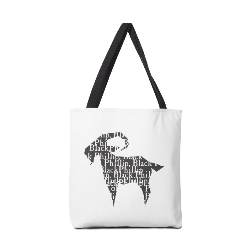 Black Phillip V Accessories Tote Bag Bag by True To My Wyrd's Artist Shop