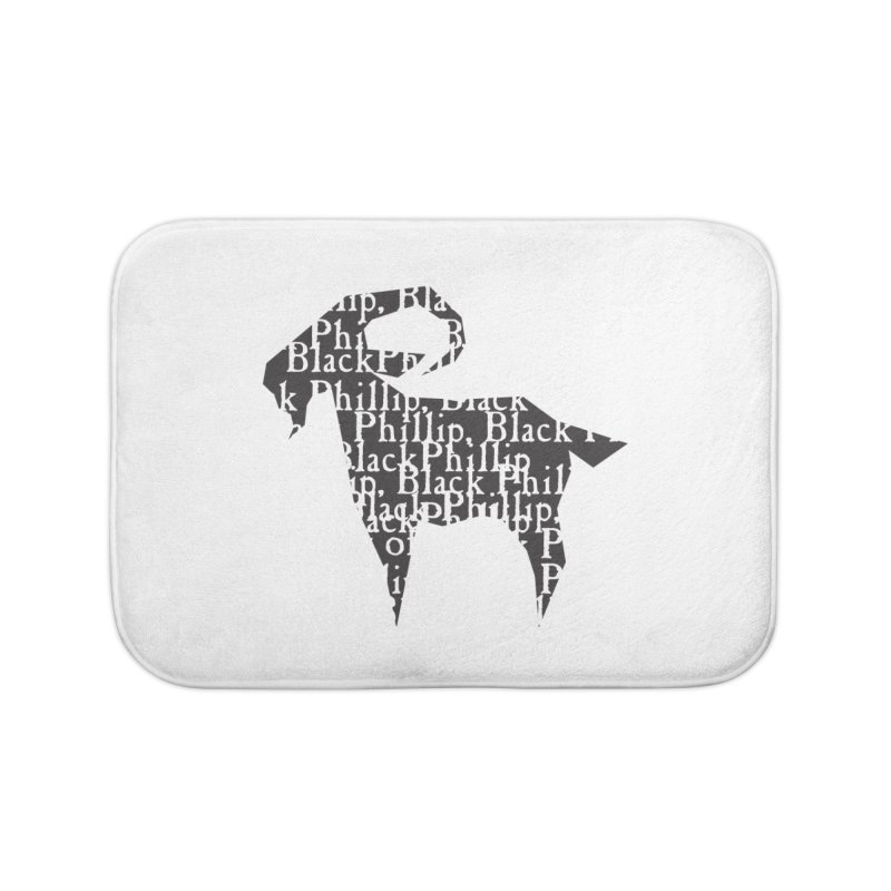 Black Phillip V Home Bath Mat by True To My Wyrd's Artist Shop
