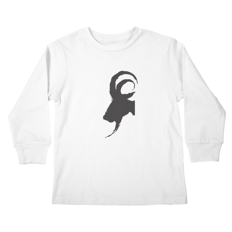 Black Phillip VI Kids Longsleeve T-Shirt by True To My Wyrd's Artist Shop