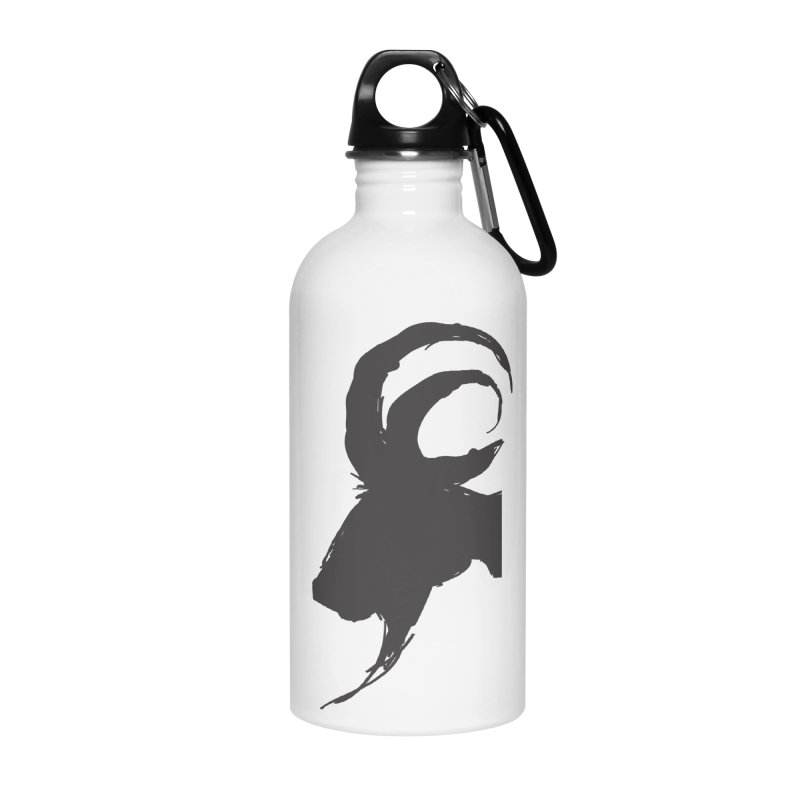 Black Phillip VI Accessories Water Bottle by True To My Wyrd's Artist Shop