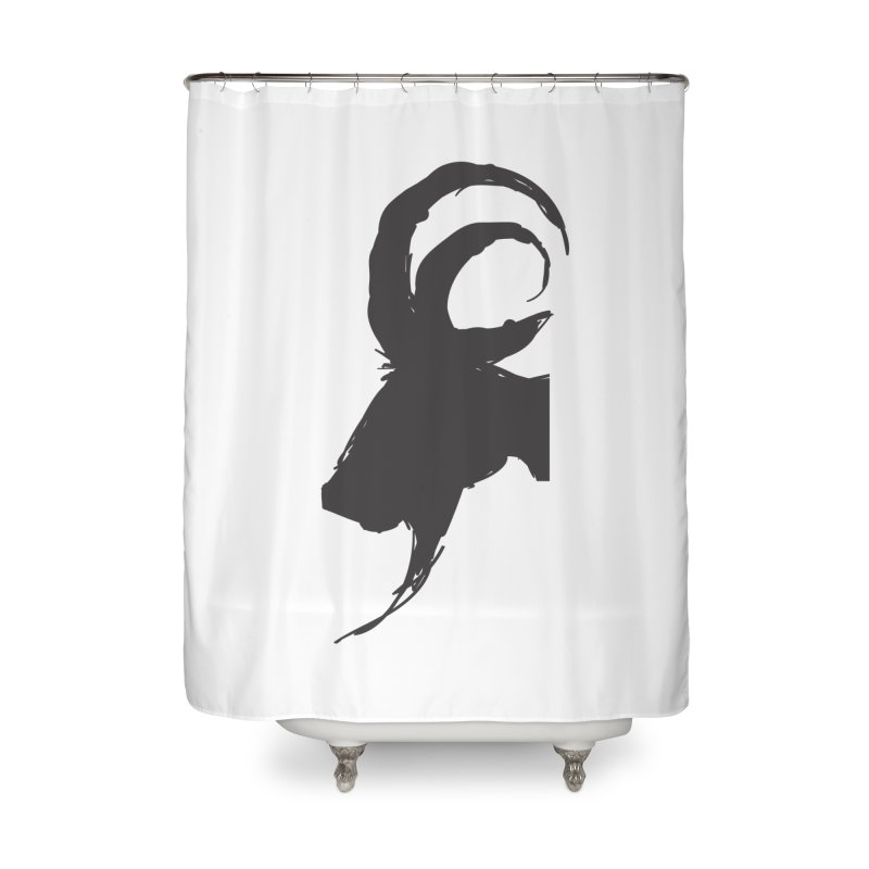 Black Phillip VI Home Shower Curtain by True To My Wyrd's Artist Shop