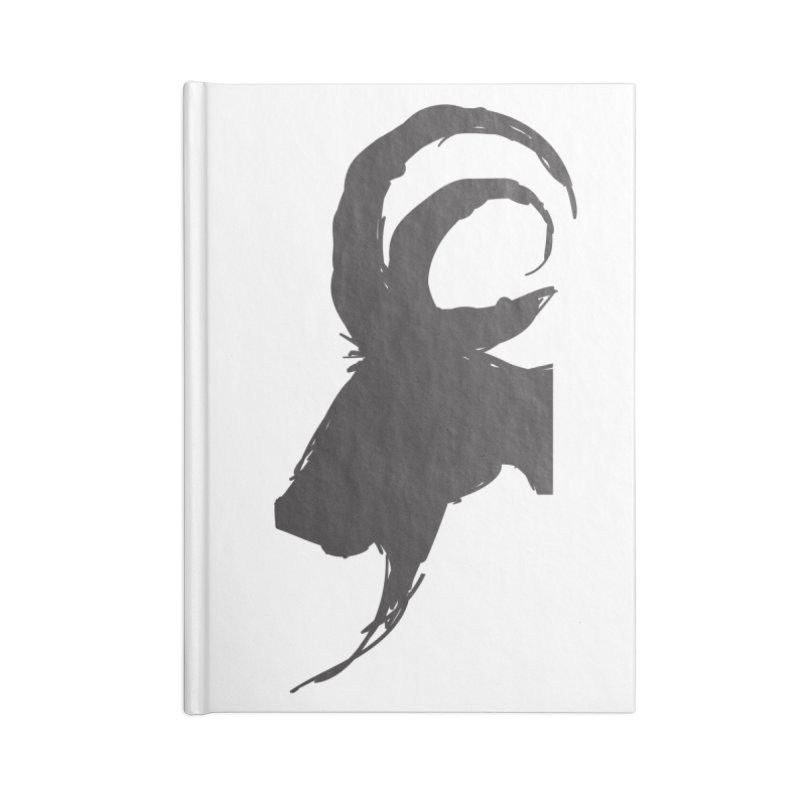 Black Phillip VI Accessories Lined Journal Notebook by True To My Wyrd's Artist Shop