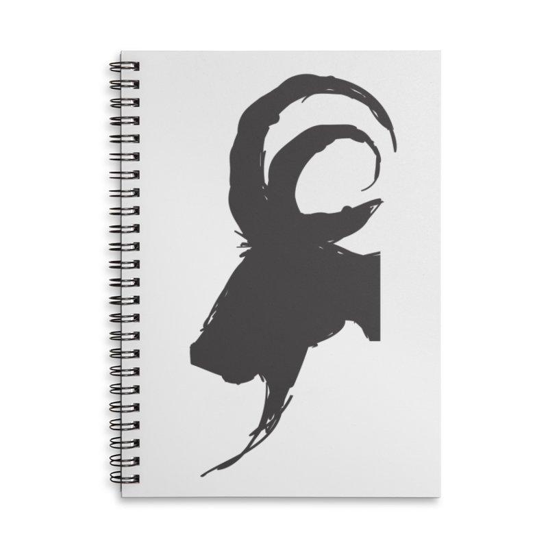 Black Phillip VI Accessories Lined Spiral Notebook by True To My Wyrd's Artist Shop