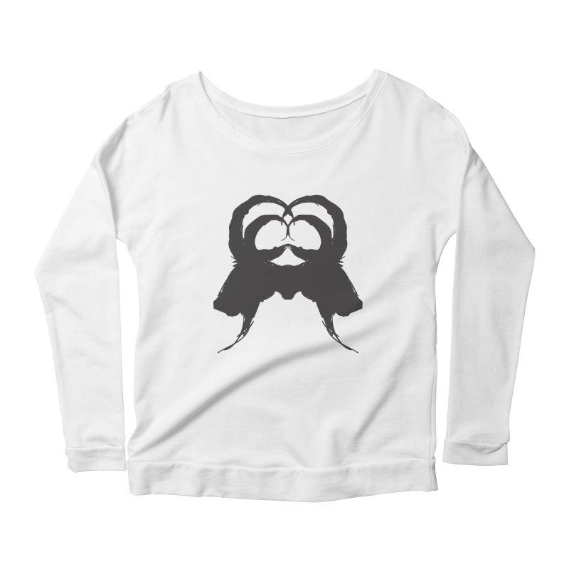 Black Phillip VII Women's Scoop Neck Longsleeve T-Shirt by True To My Wyrd's Artist Shop