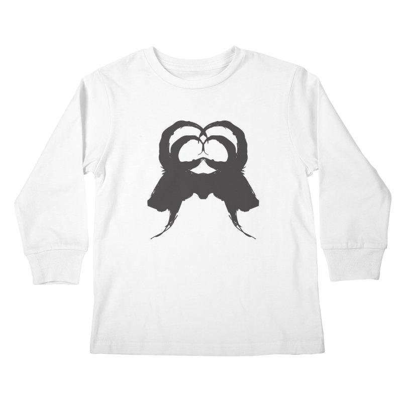 Black Phillip VII Kids Longsleeve T-Shirt by True To My Wyrd's Artist Shop