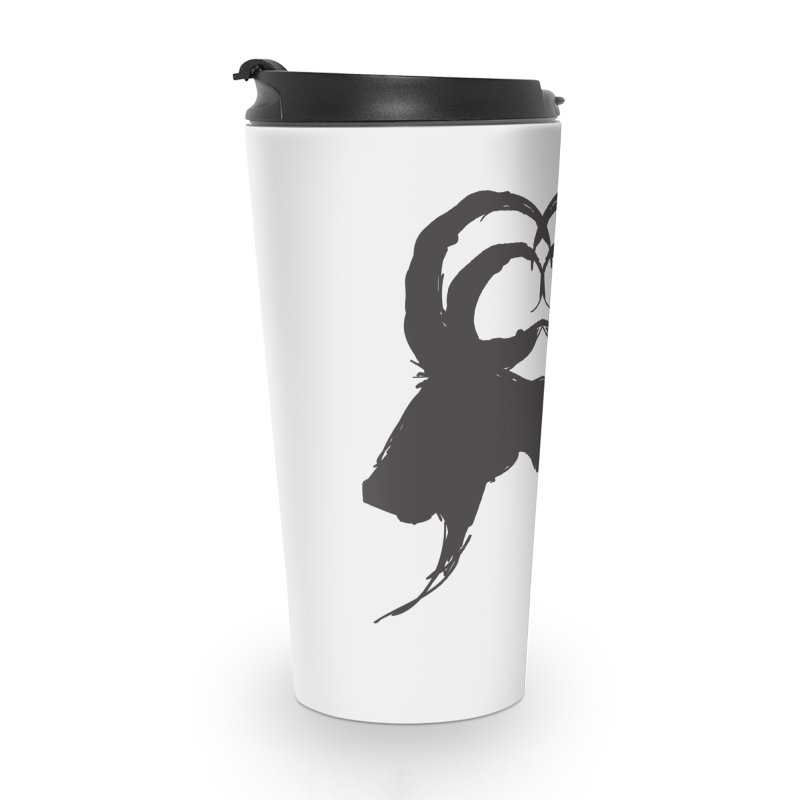 Black Phillip VII Accessories Travel Mug by True To My Wyrd's Artist Shop