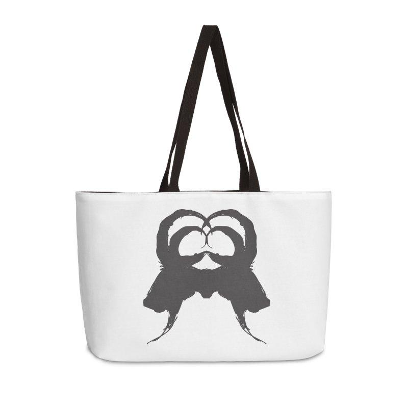 Black Phillip VII Accessories Weekender Bag Bag by True To My Wyrd's Artist Shop