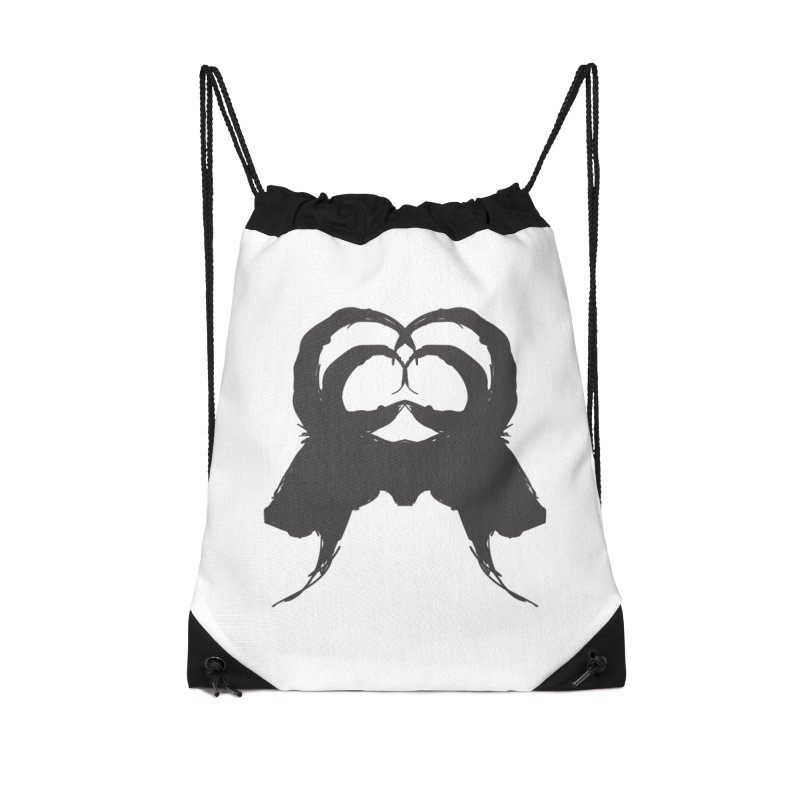 Black Phillip VII Accessories Drawstring Bag Bag by True To My Wyrd's Artist Shop