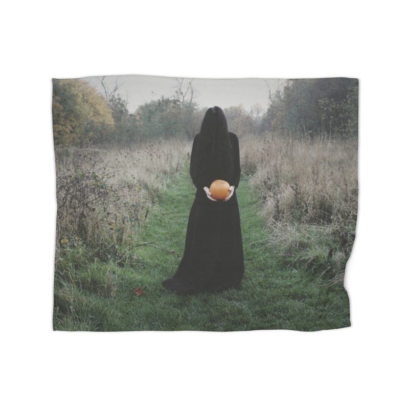 Queen Of Halloween Home Fleece Blanket Blanket by True To My Wyrd's Artist Shop