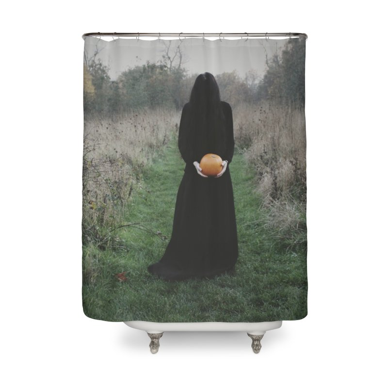 Queen Of Halloween Home Shower Curtain by True To My Wyrd's Artist Shop
