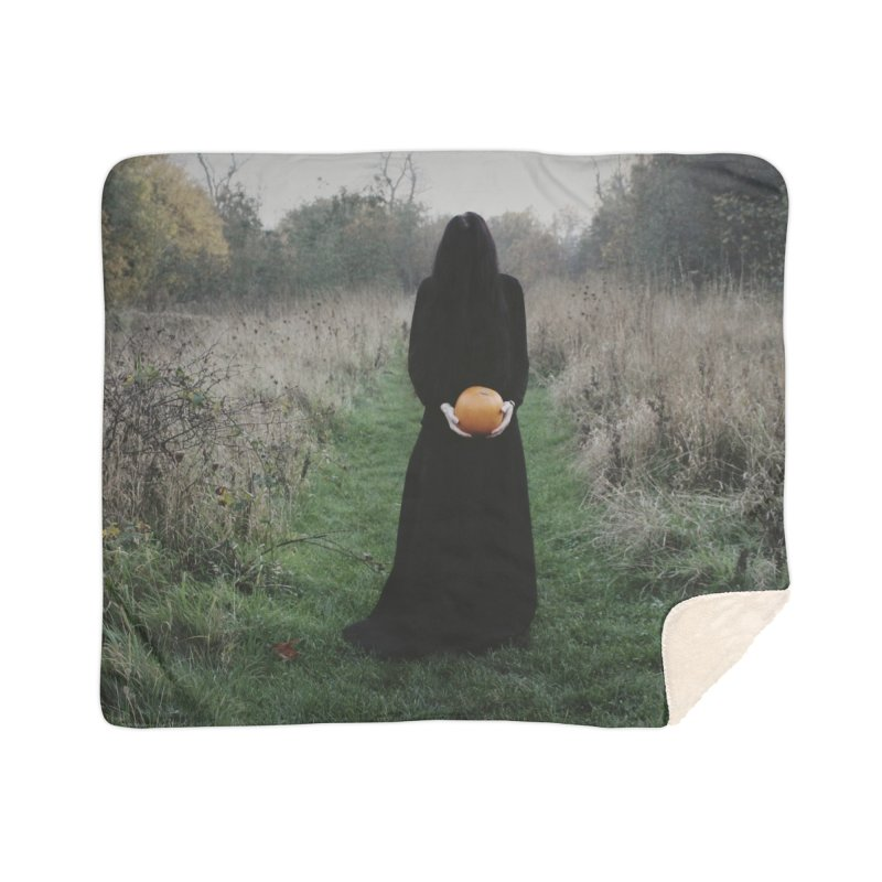 Queen Of Halloween Home Sherpa Blanket Blanket by True To My Wyrd's Artist Shop