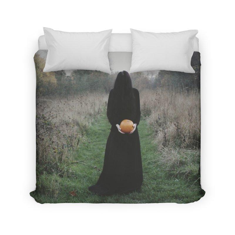 Queen Of Halloween Home Duvet by True To My Wyrd's Artist Shop