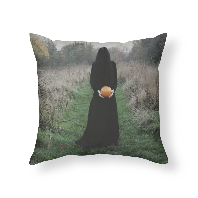 Queen Of Halloween Home Throw Pillow by True To My Wyrd's Artist Shop