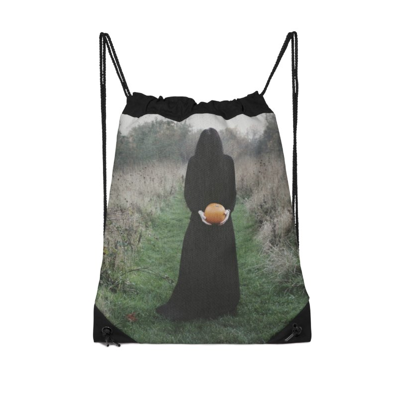 Queen Of Halloween Accessories Drawstring Bag Bag by True To My Wyrd's Artist Shop