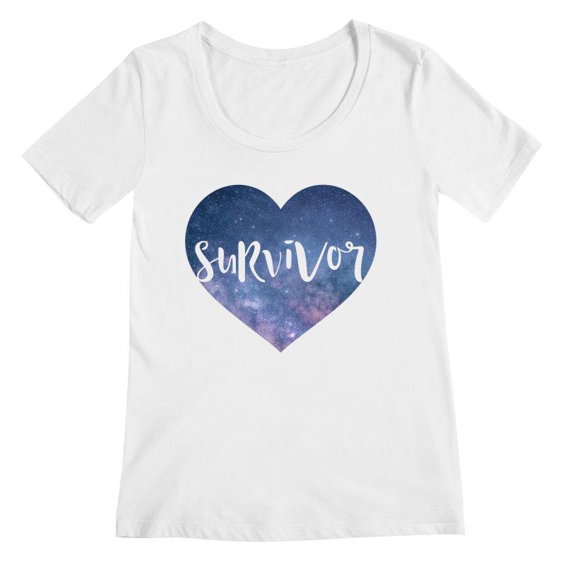 Survivor Women's Regular Scoop Neck by True Words's Artist Shop